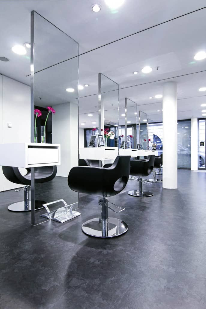 luxus friseur m chen cs friseure m nchen designer friseursalon von stararchitekt cs. Black Bedroom Furniture Sets. Home Design Ideas